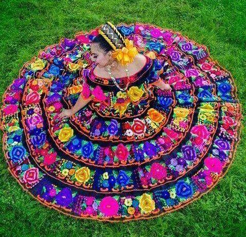 Beautiful Chiapas Folklorico Dancer Trajes Tipicos De