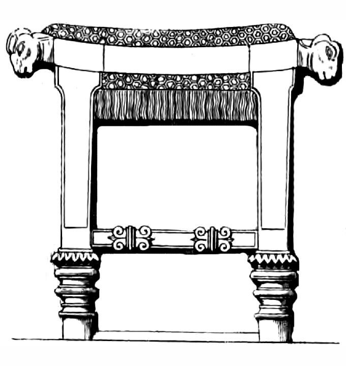Mesopotamian And Egyptian Culture Stool Chair And
