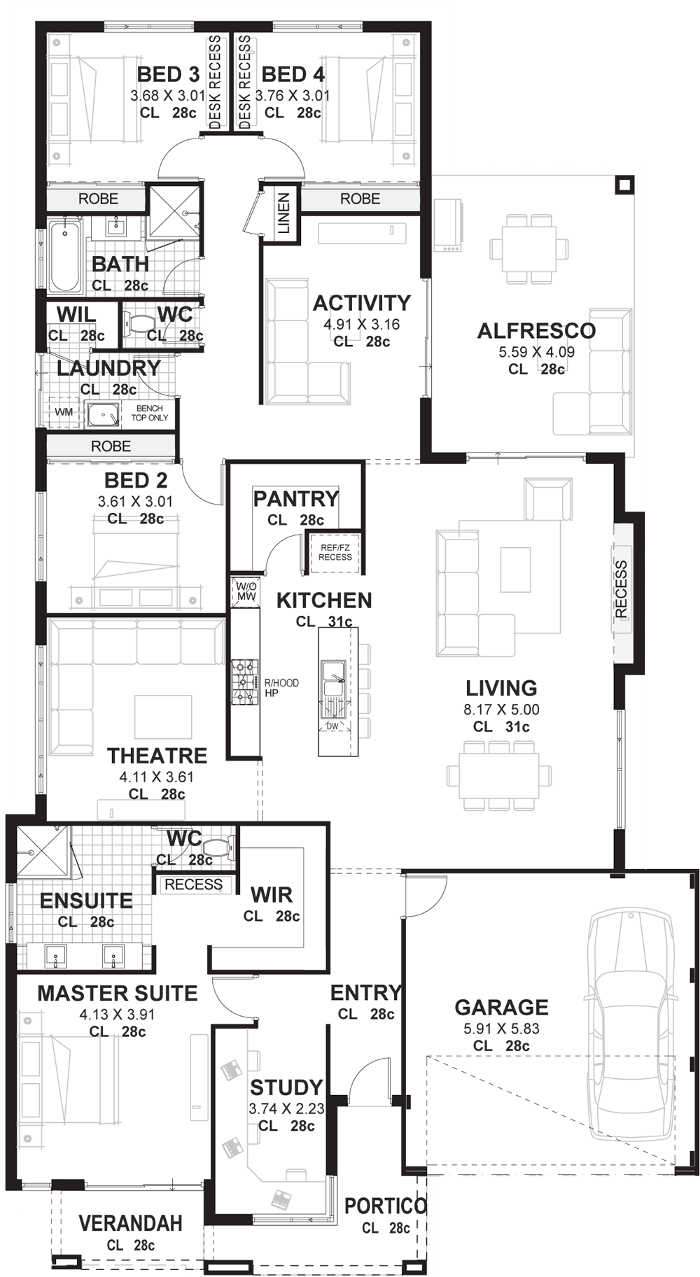 4 bedroom house plans home perth vision one homes plans bedroom rh pinterest com
