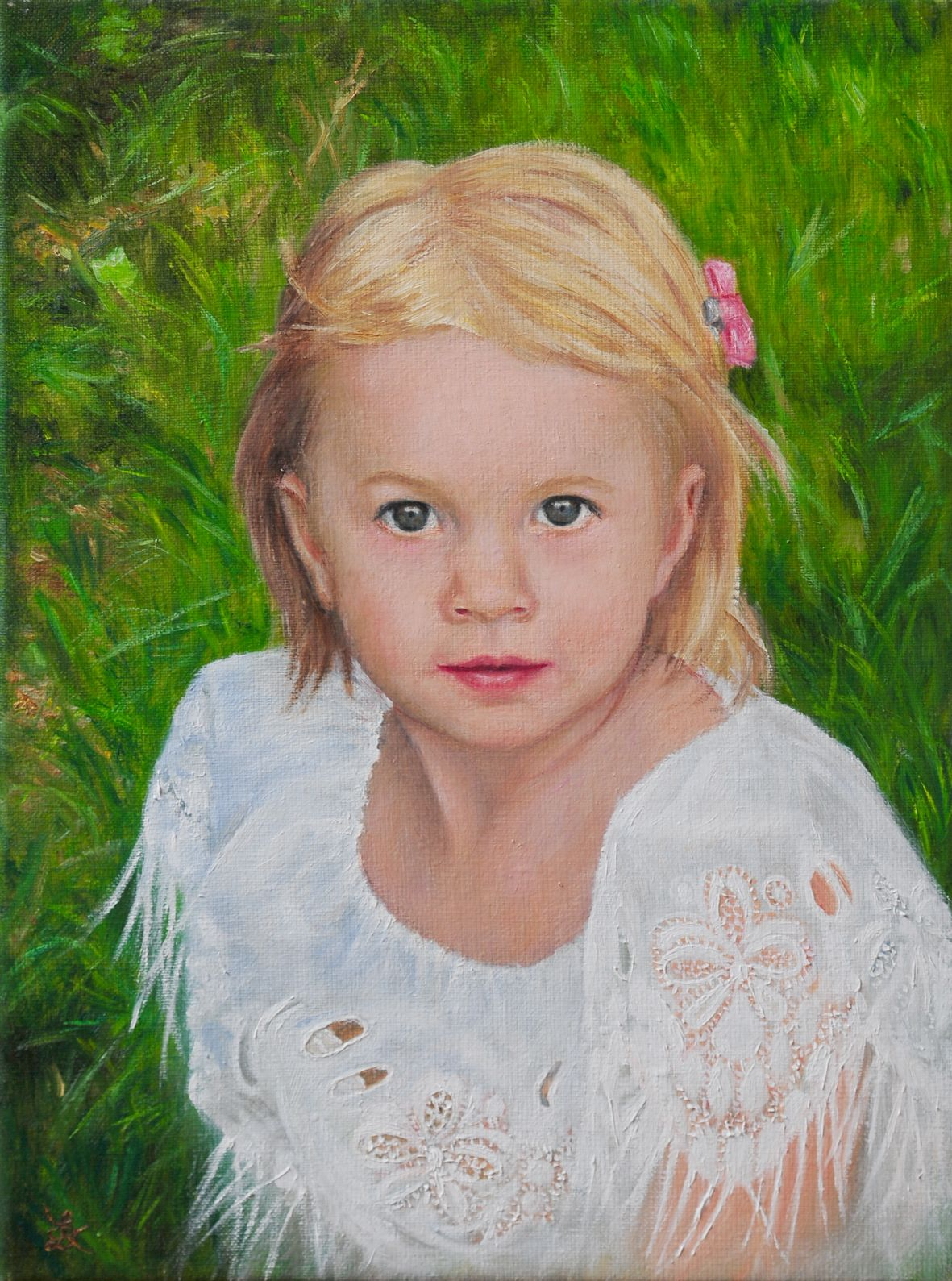Little girl - oil on canvas
