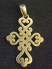 James Avery 14K Gold Heavy Filigree Swirl Scroll Spanish Mission Cross Pendant