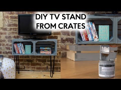 Diy Tv Stand From Crates Hometalk
