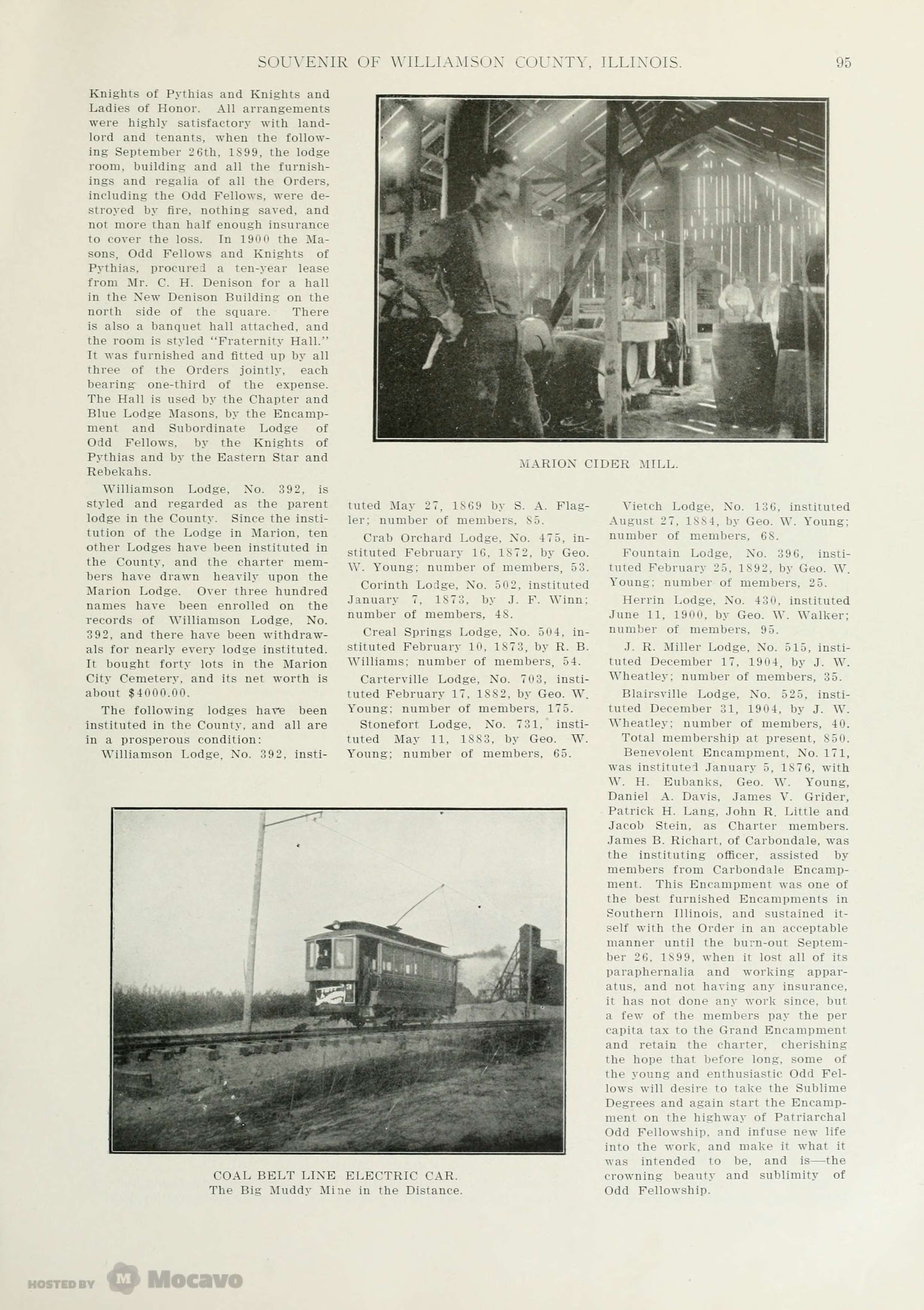Historical Souvenir of Williamson County, Illinois, Page