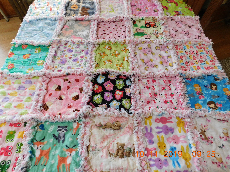 Pin By Kathy Turek On My Sewing  Girls Rag Quilt, I Spy -1816
