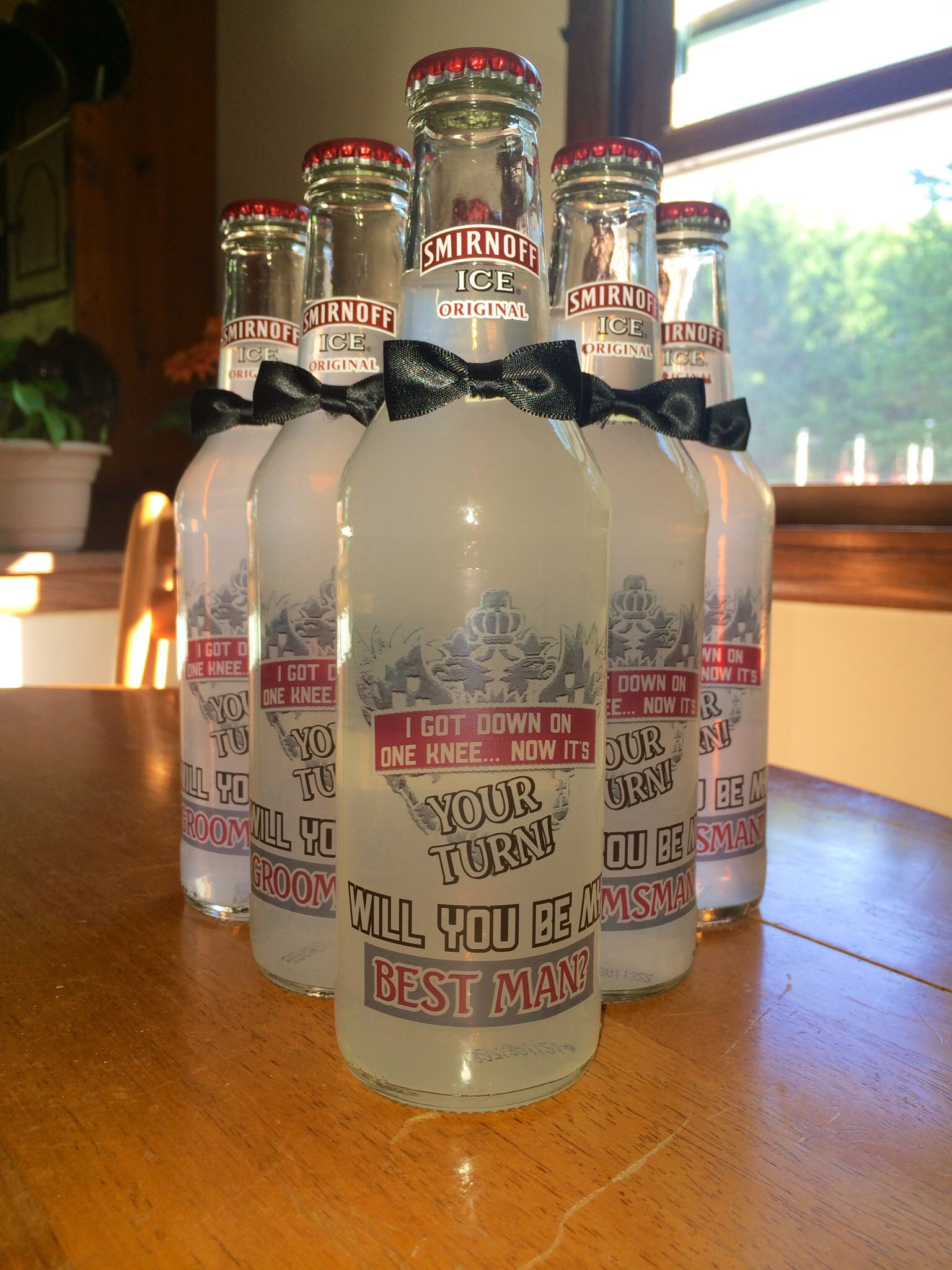 smirnoff ice icing groomsmen will you be my best man will you be