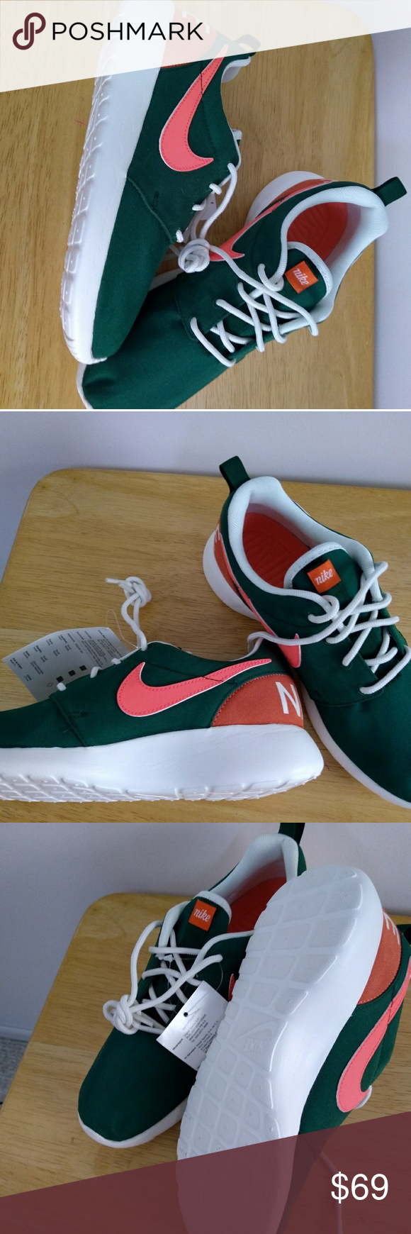 buy popular 762fc dbd80 Womens Nike Roshe One Retro Shoes 6.5 Womens Nike Roshe One Retro Shoes  Gorge Green Orange 6.5 New in Box Nike Shoes Athletic Shoes