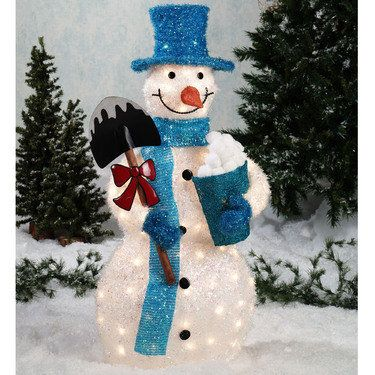 Lighted tinsel snowman outdoor sculpture xmas ideas pinterest lighted tinsel snowman outdoor sculpture workwithnaturefo