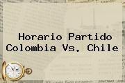 horario del partido de mexico chile