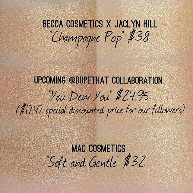 "A lot of you were wondering how our upcoming shade ""You Dew You"" compares to some current peachy highlights on the market! ""You Dew You"" was specifically created with a pinky, peach undertone that will flatter skin tones across the board. What do you think of our creation?! We can't wait to see it on all of you!"