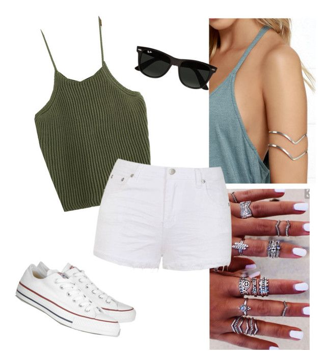 """Olive Chill"" by christy-gringa-boone on Polyvore featuring Converse, Ray-Ban and Ally Fashion"