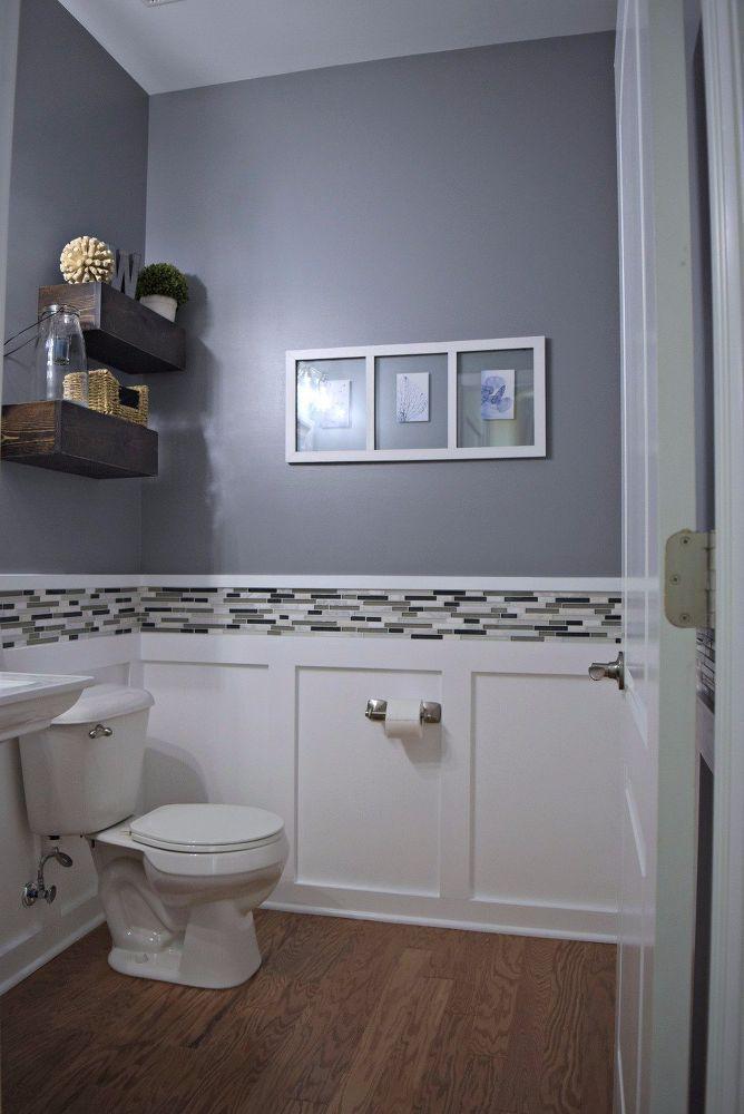 how to makeover a budget powder room diy in 2019 bathroom remodel rh pinterest com