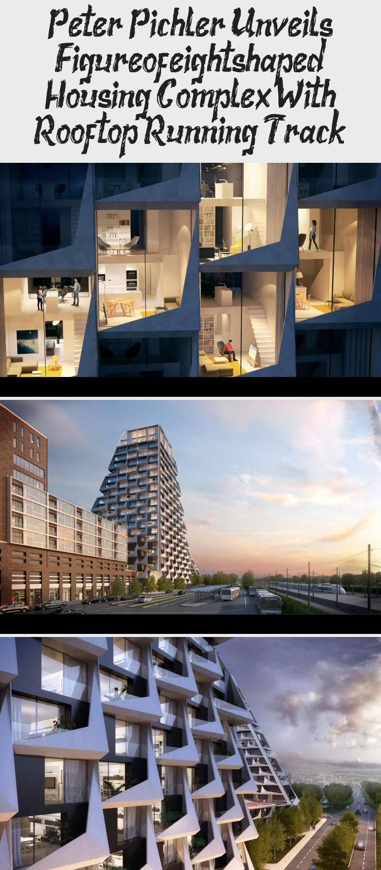 A Rooftop Running Track Will Connect The Two Towers Of This Housing Complex Designed By Milan Based Peter Pichle In 2020 Architecture Sustainable Architecture Rooftop