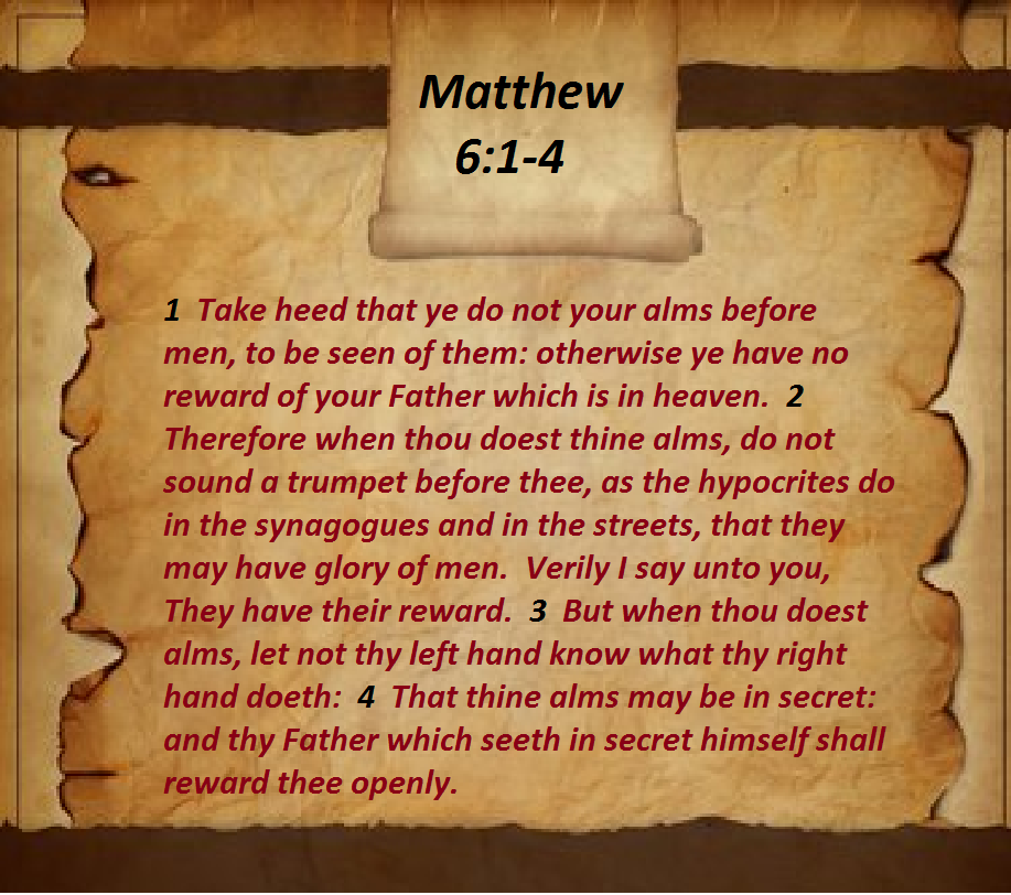 Matthew 6 1 4 You Are The Father Word Of God Sayings