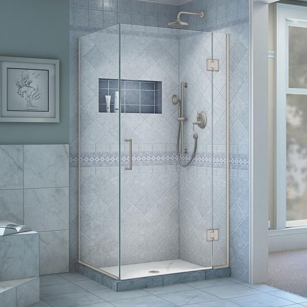 DreamLine Unidoor-X 30-3/8 in. x 34 in. x 72 in. Frameless Hinged ...