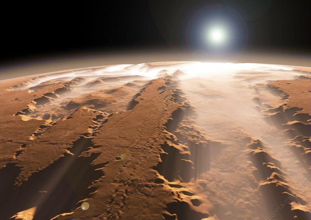 Resultado de imagen de El cañón más grande del sistema solar está en Marte