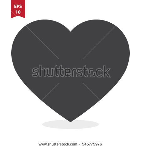 Heart Vector Icon Love Symbol Valentines Day Sign Emblem