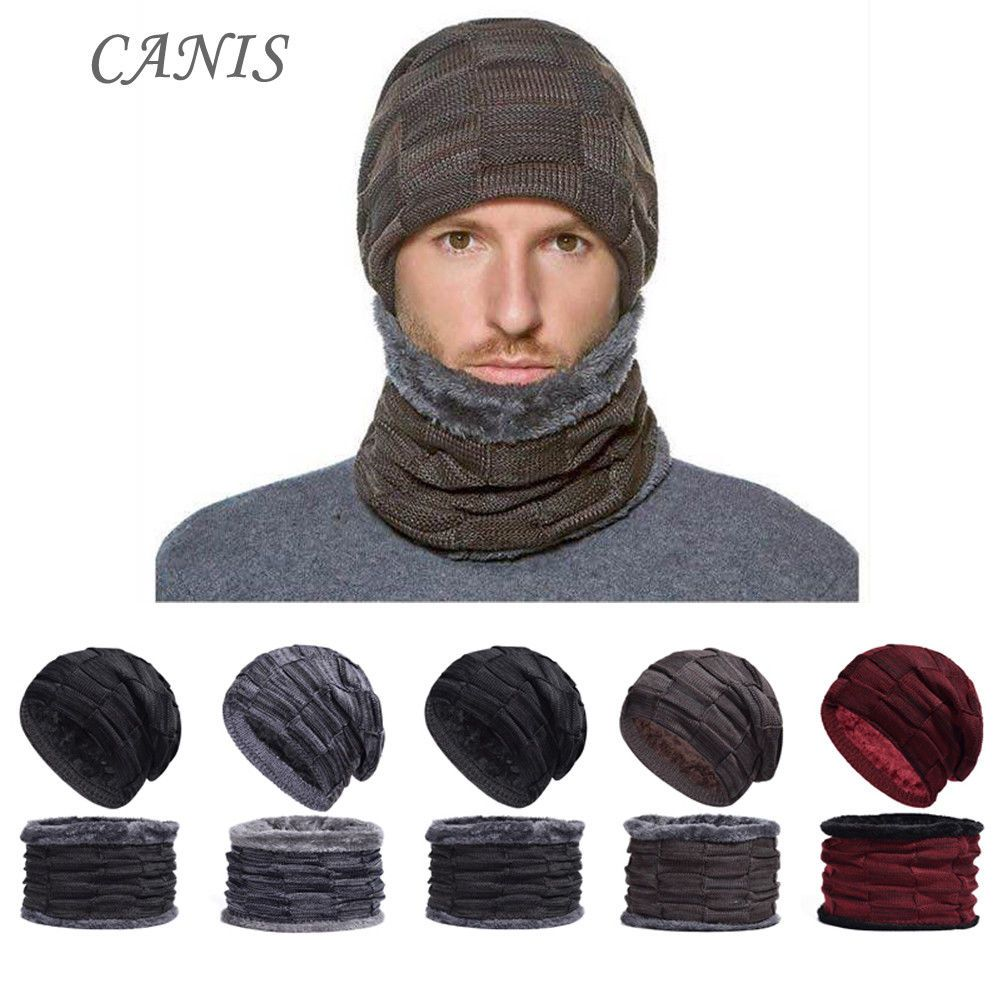 83b4de1240345 US Men Women Knit Baggy Beanie Neckerchief Winter Warm Hat Ski Slouchy Chic  Cap   9.79