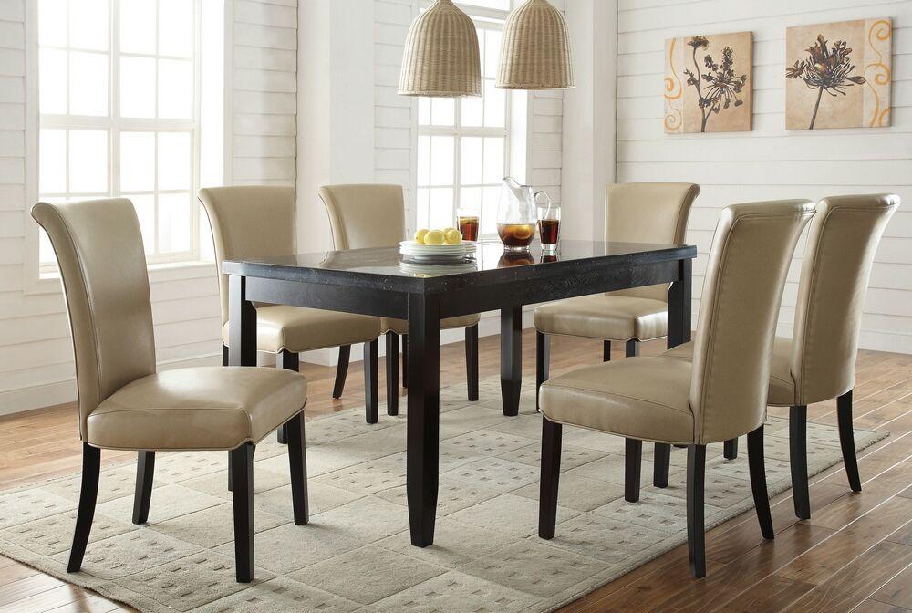 103621 102883 7 pc newbridge espresso finish wood faux marble top rh pinterest ph