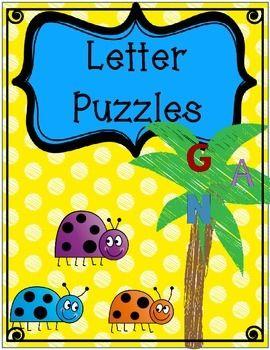 Letter Sound Puzzles from Kinder Doodlez