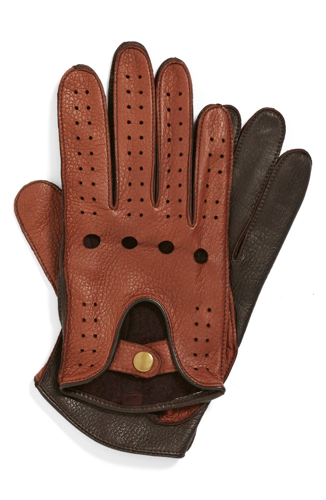 Mens gloves use iphone - John W Nordstrom Leather Gloves