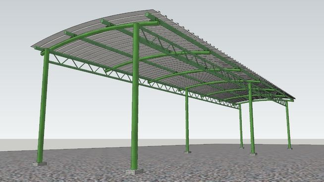 Structural Steel Shed - 3D Warehouse & Structural Steel Shed - 3D Warehouse | sketchup | Pinterest ...