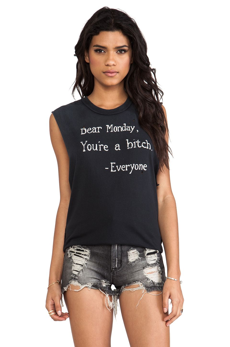 UNIF Dear Monday Tank in Black from REVOLVEclothing