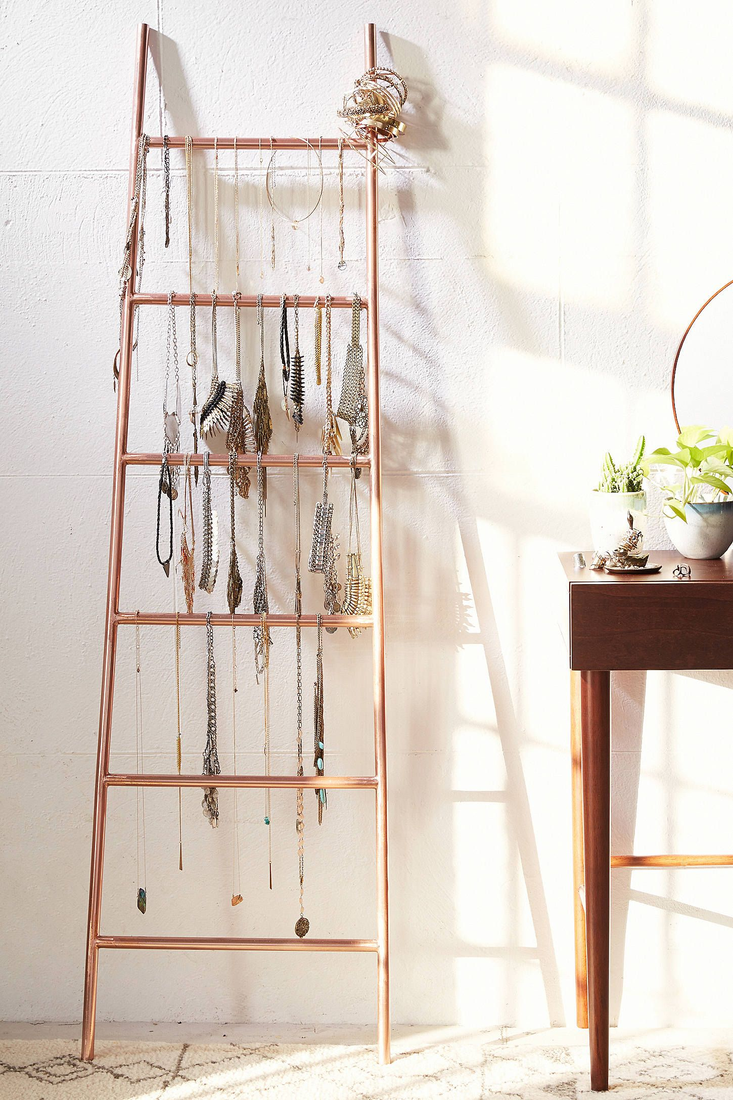 Slide View 1 Decorative Metal Ladder Decorative