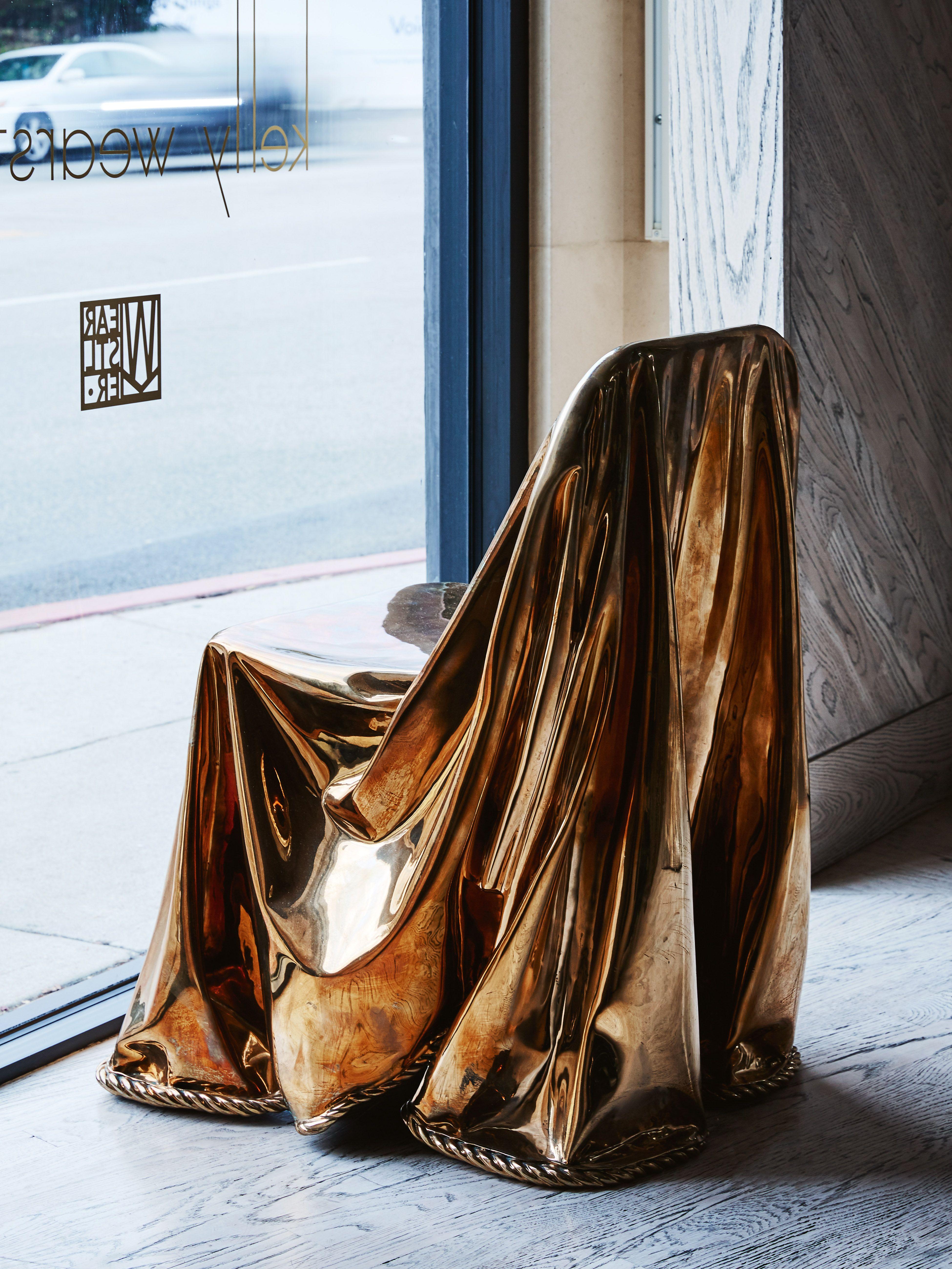 calia bronze draped chair in 2019 seating pinterest furniture rh pinterest com
