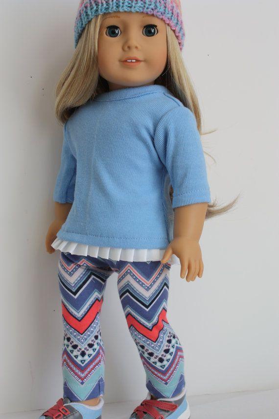18 inch doll clothes Aztec leggings and top by GrandmasDollCloset ...