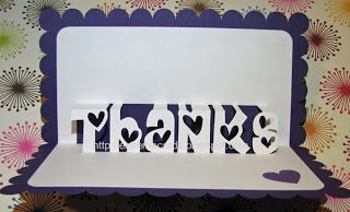 Thank You Pop Up Card Free File Pop Up Cards Thanks Card Silhouette Cards