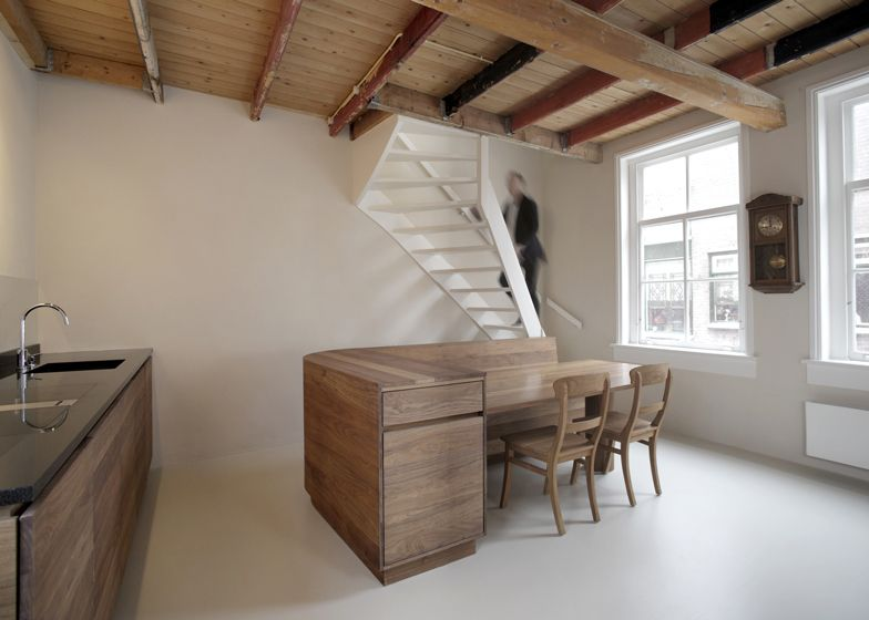 unknown architects updates 200 year old house with twisting rh pinterest com