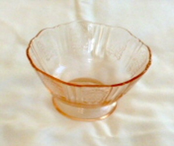 """""""America's Sweetheart"""" Pink Footed Low Sherbet Depression Glass"""