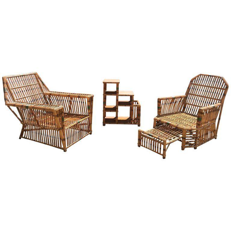 antique ficks reed stick rattan set furniture garden furniture rh pinterest com