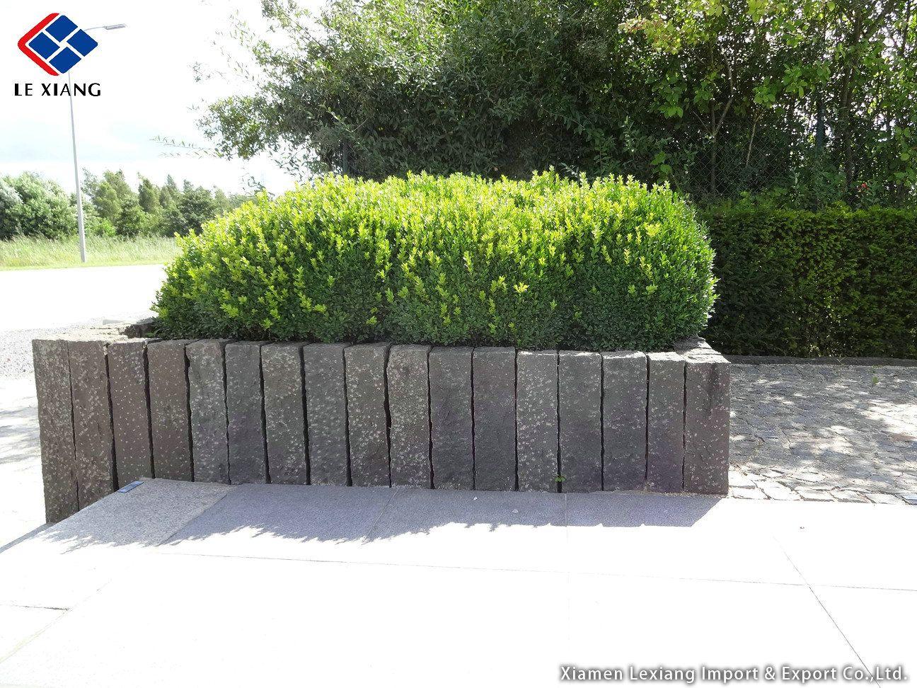 Stein Palisaden Bepflanzung Palisaden Garten Anlegen