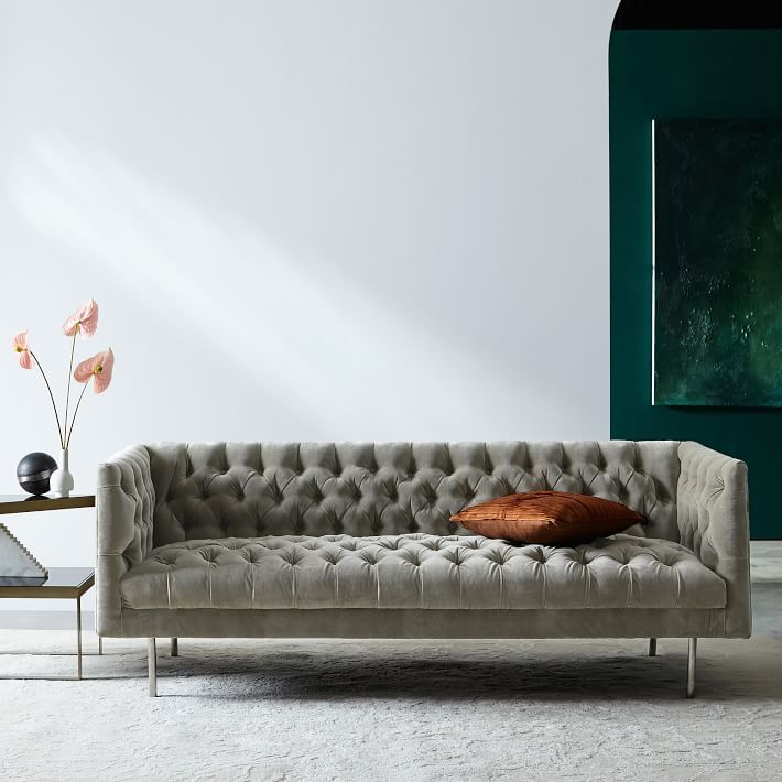 modern chesterfield sofa 79 west elm interior design rh pinterest com