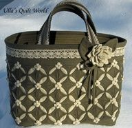 Ulla's Quilt World: Cathedral window quilt bag, flower pattern.