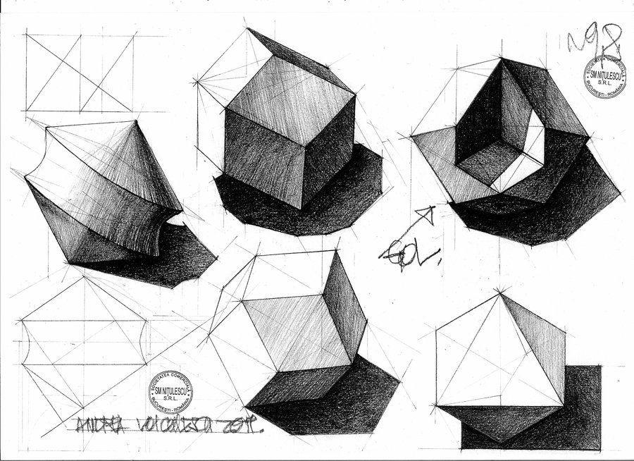 Geometrie Descriptiva 2 By Dedeyutza On Deviantart Basic Drawing Drawings Art Drawings