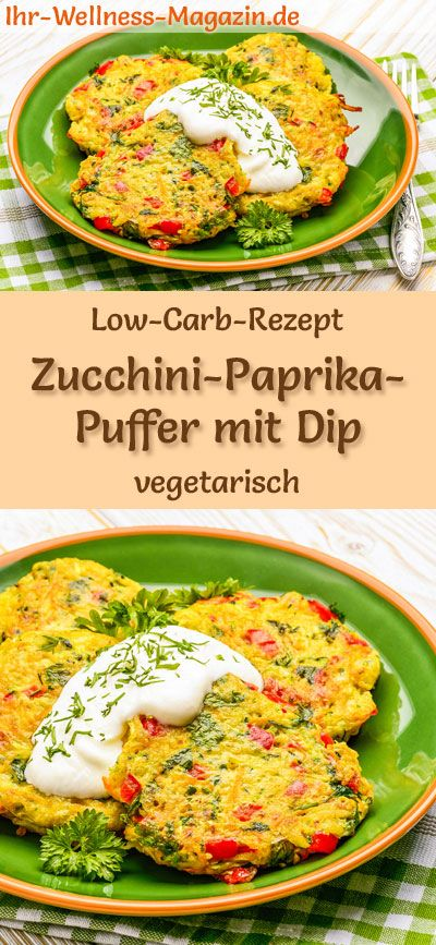 Photo of Low carb zucchini and pepper buffer – healthy, vegetarian main course