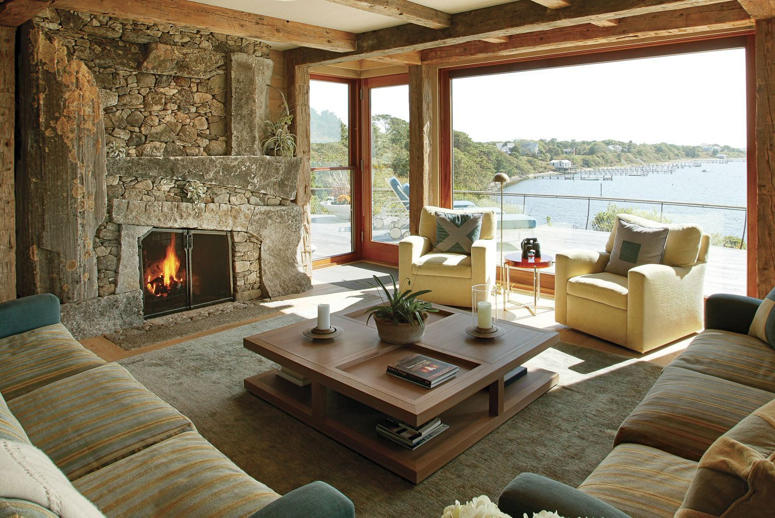 Fireplace design and construction by Lew French