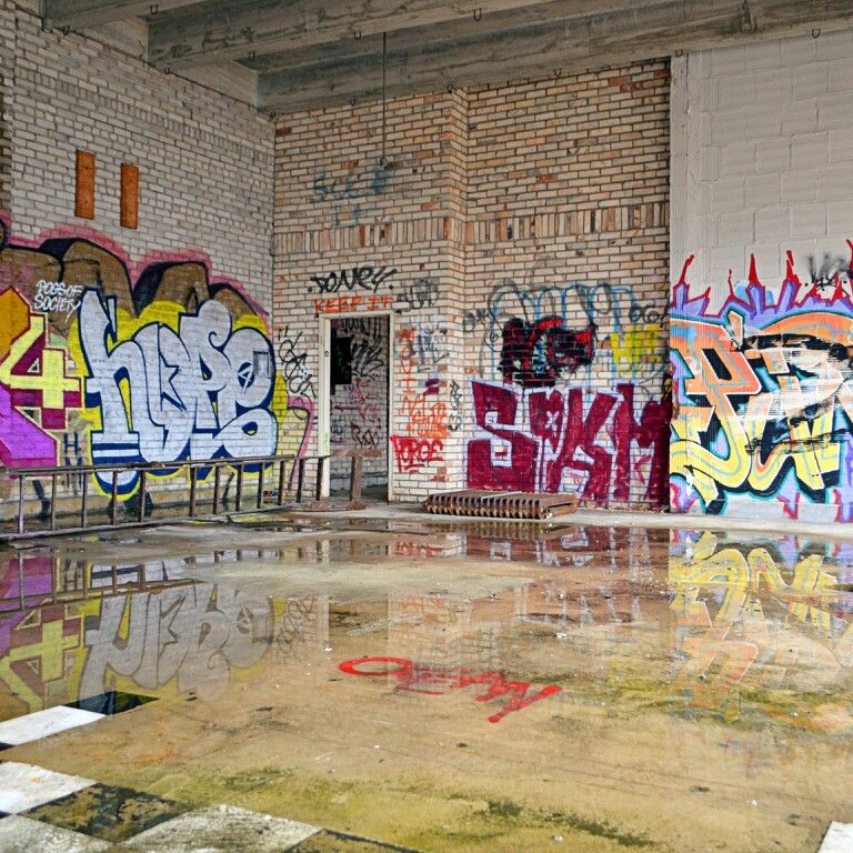 AP Skyline Photography. Abandoned Building. Urban