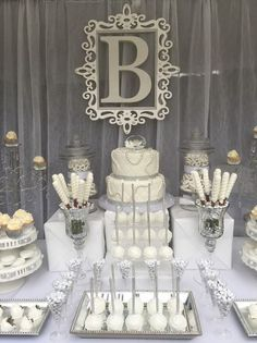 Diamonds And Pearls Candy Buffet All White Party Milestone Birthday Wedding Station Bridal Shower