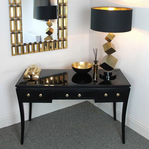 Wonderful Black Lacquered Dressing Table