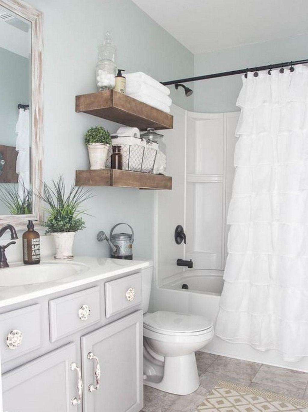 150 stunning small farmhouse bathroom decor ideas and remoddel to rh pinterest com