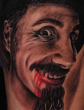 Serj Tankian System Of A Down Tattoo | Black and grey