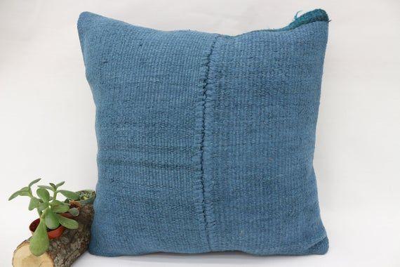 18x18 Bohemian Kilim Pillow,Home Decor Pillow,Hemp Pillow,Pillow Cover,Throw Pillows, Floor Pillow,B