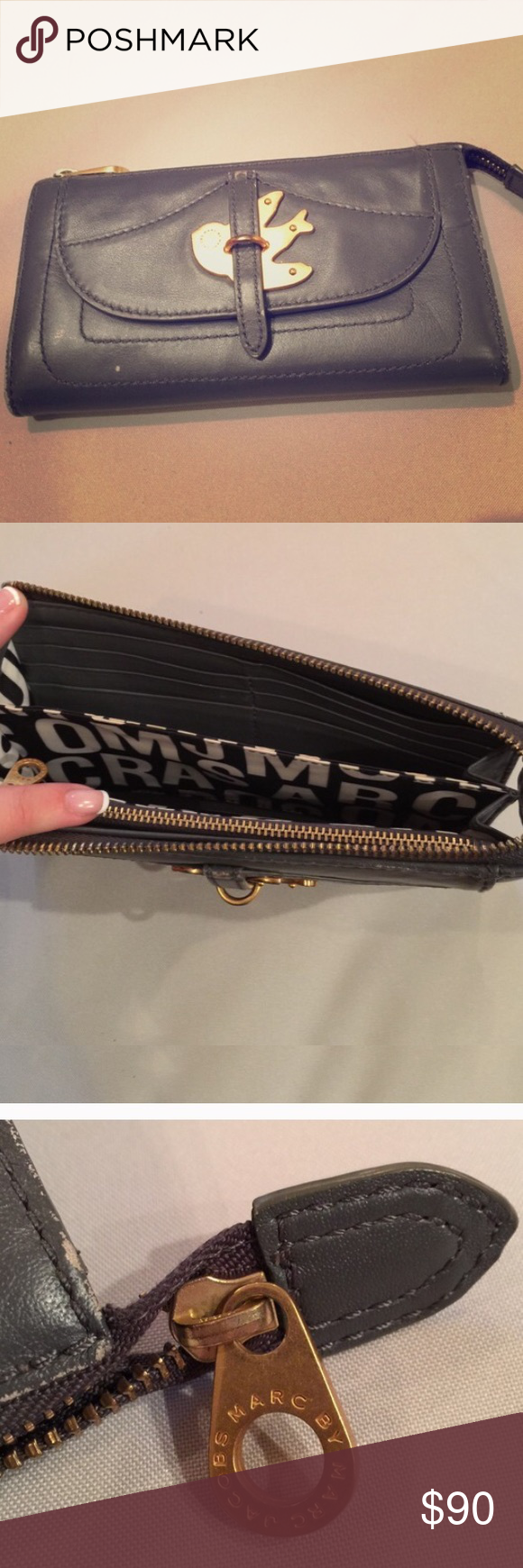 Marc By Jacobs Petal To The Metal Wallet Bag Jacob Authentic Some Wear And Tear From Usage But