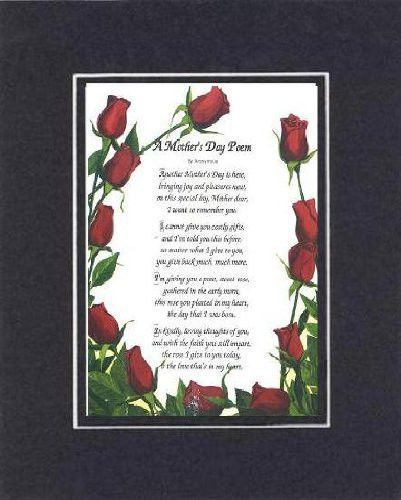Touching and Heartfelt Poem for Mothers - [A Mother's Day Poem ] on 11 x 14 CUSTOM-CUT EXTRA-WIDE Double Beveled Matting  More at: http://livinglearningandloving.com/things-we-like-and-love/