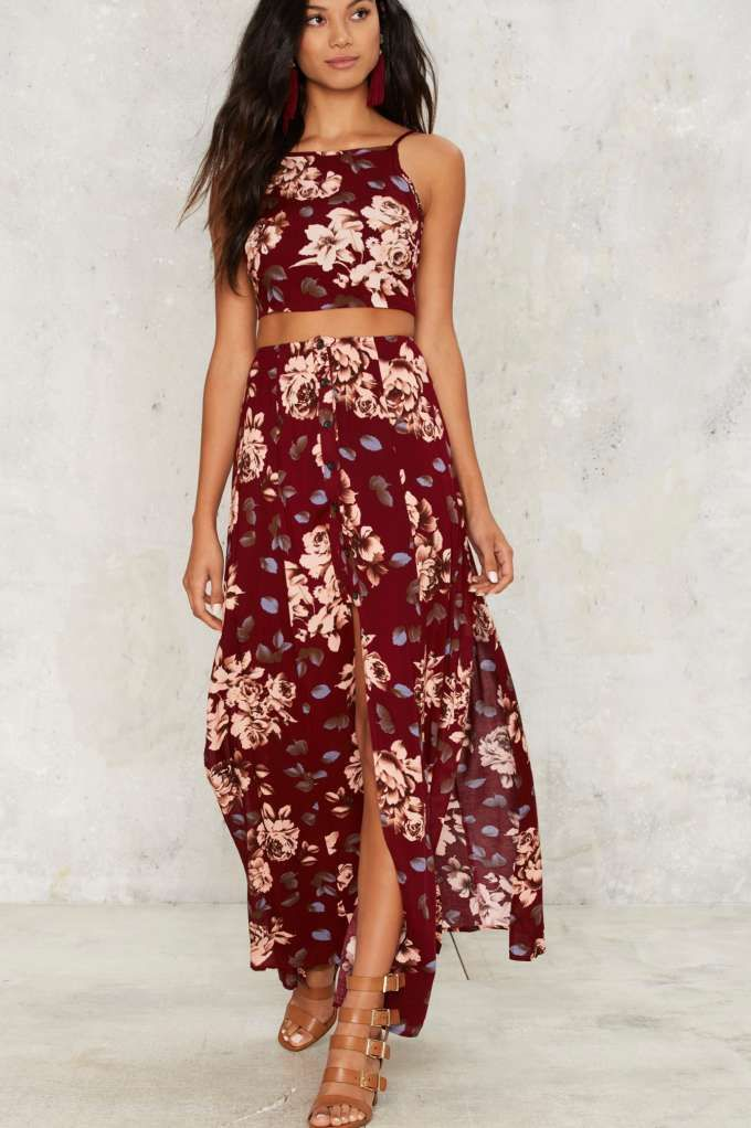 Josie Floral Maxi Skirt | Shop Clothes at Nasty Gal!