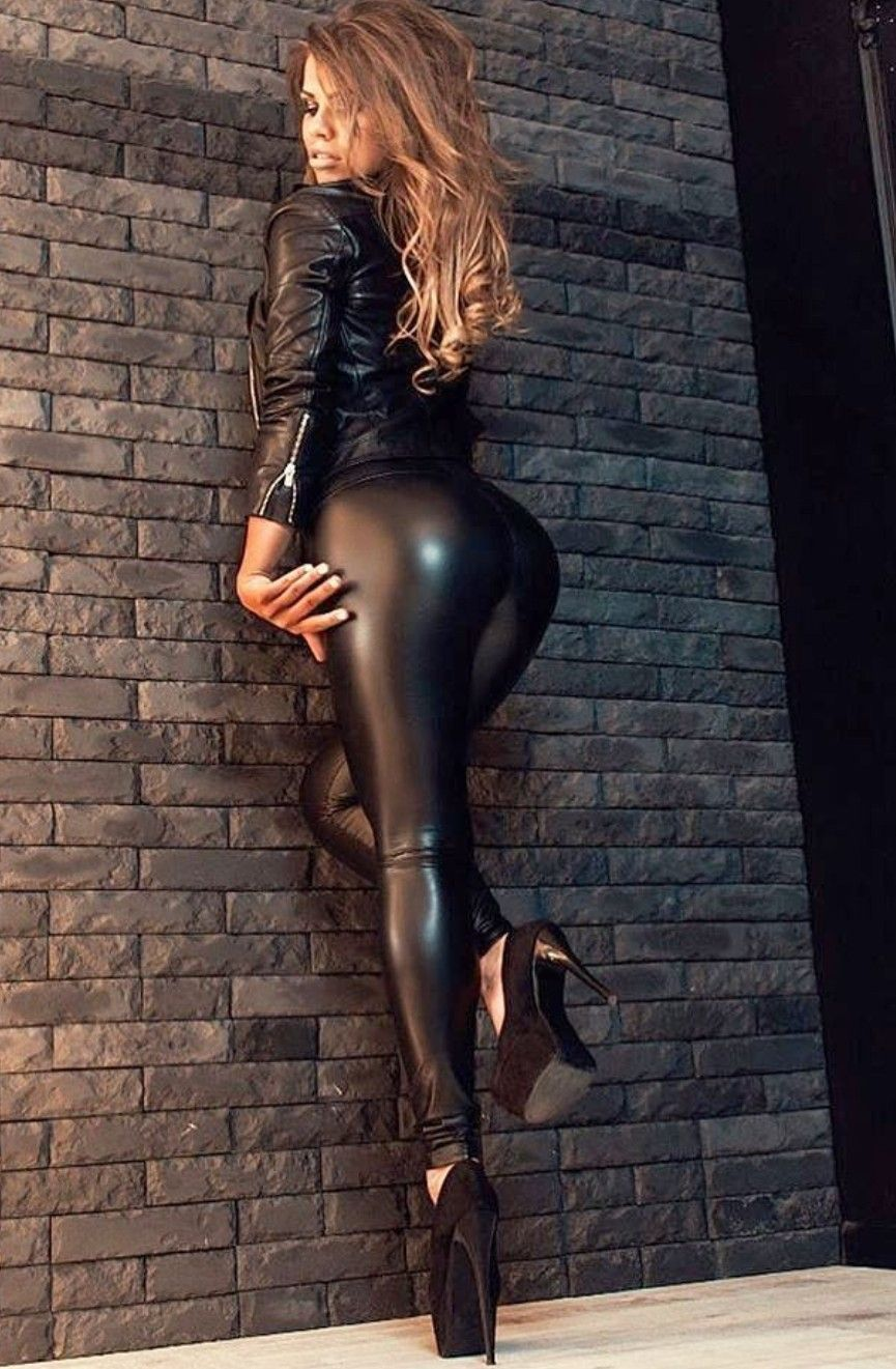 Ass in leather