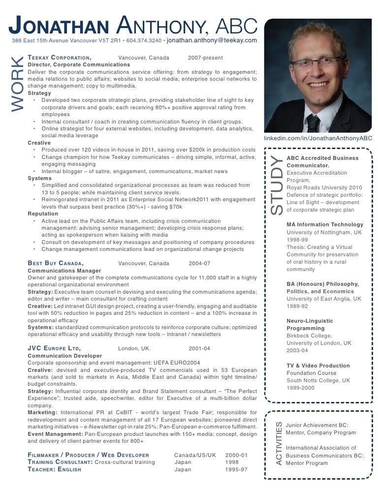 here is my standard resume  nice  simple  i challenged
